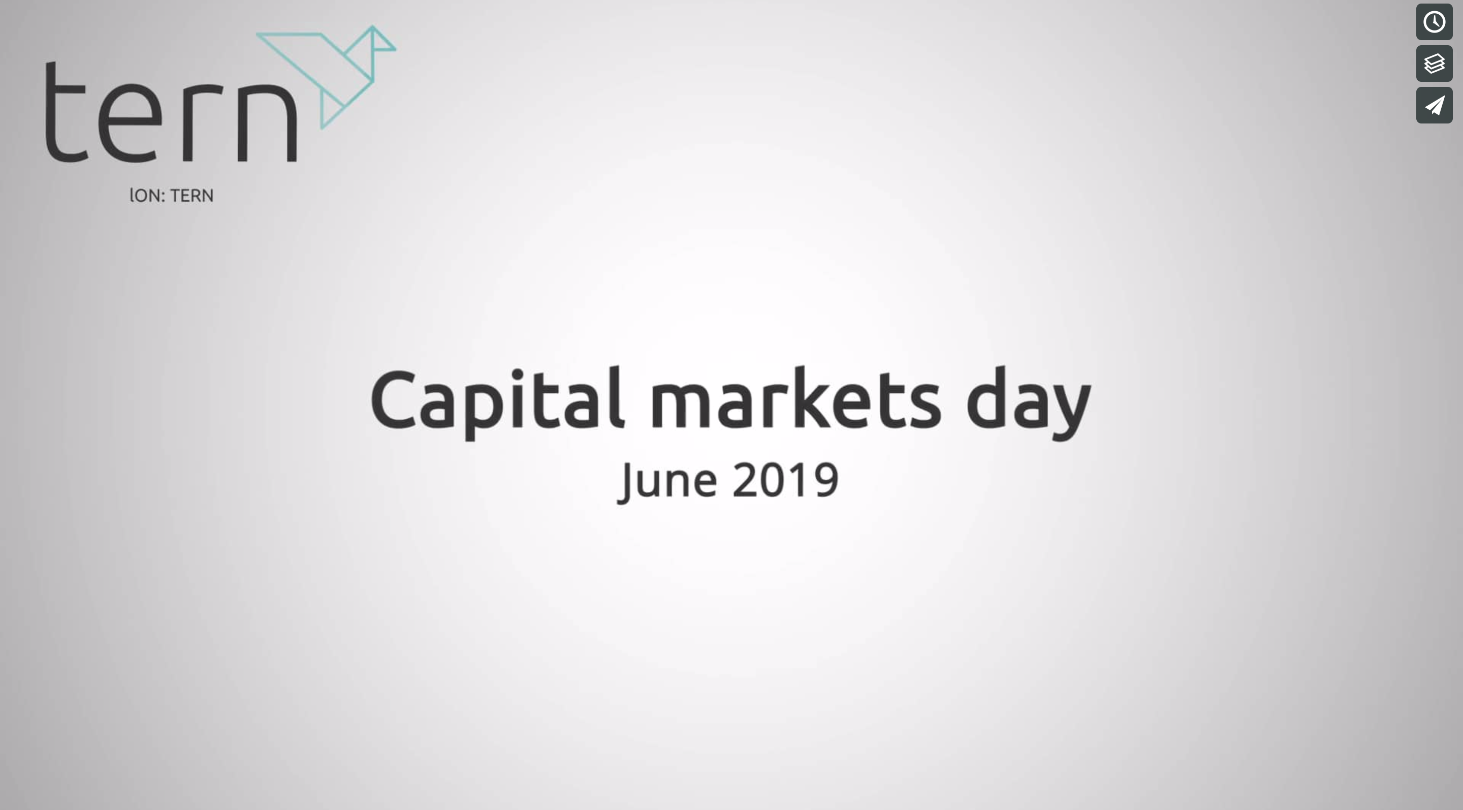 Tern capital markets day